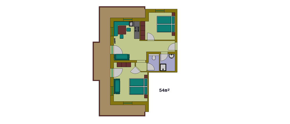 Layout 1st floor apartment type 1