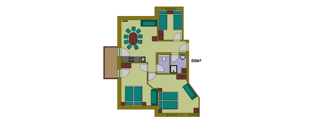 Layout 2nd floor apartment type 3